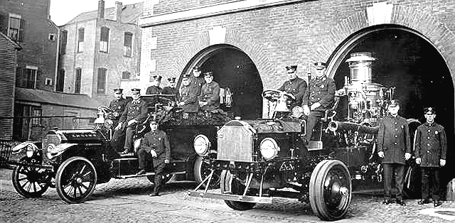 Motorized Engine Co. 5 with steam pumper and tractor.