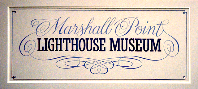 Painted sign for Marshall Point Lighthouse Museum.
