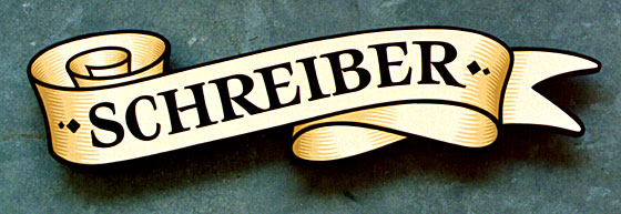 A house sign for the Schreiber family.
