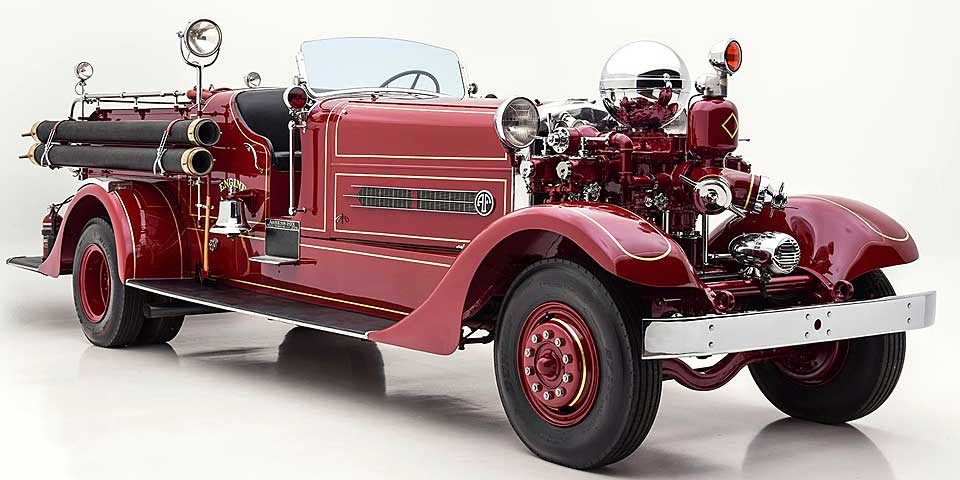 1925 Ahrens-Fox fire engine restored by Firefly Restoration.