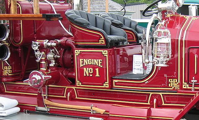 Eleven corner knots on 1926 Maxim fire engine