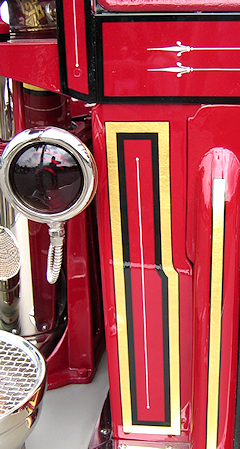 Rear corner of 1926 Maxim fire engine