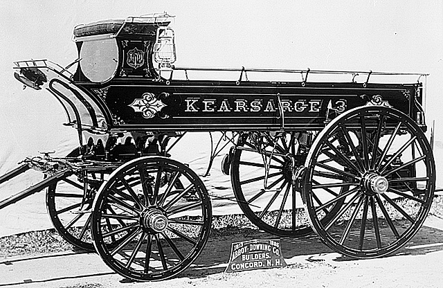 factory photo of Abbot & Downing hose wagon for Kearsarge Engine No. 3