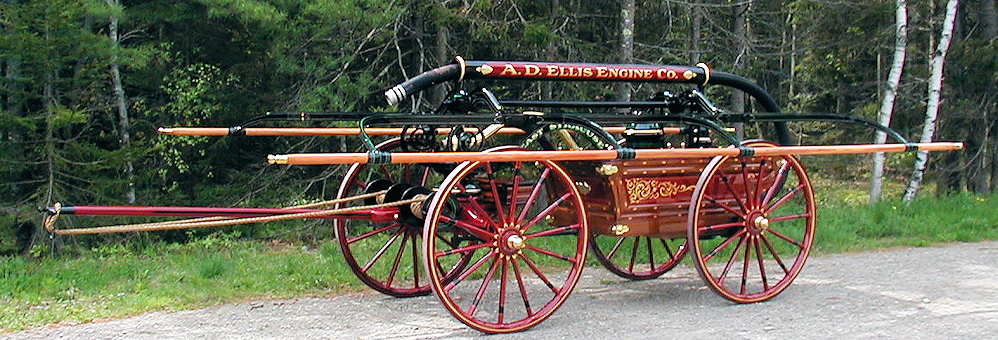 1888 Rumsey hand engine restored by Firefly Restoration.