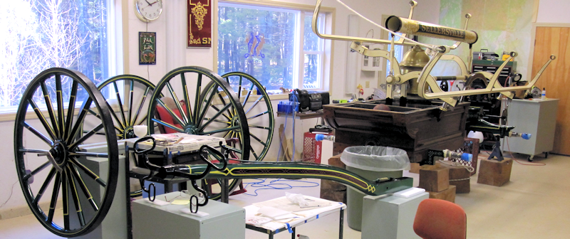 restoration of a 1860 Cowing hand engine.