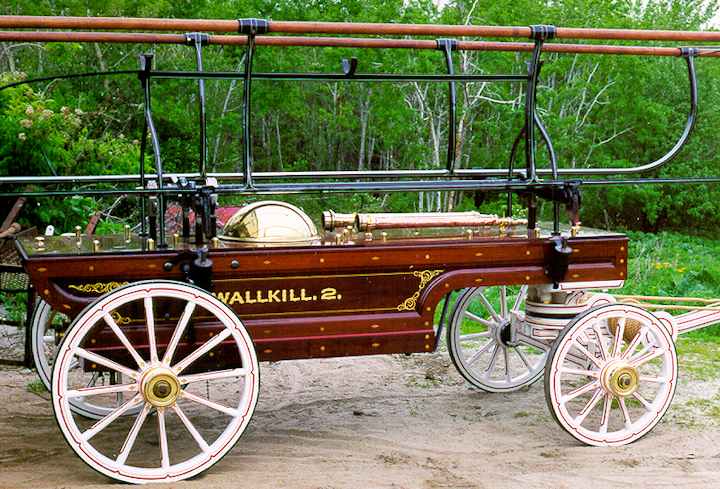 1860 Cowing hand engine restored for WallKill NY at Firefly Restoration