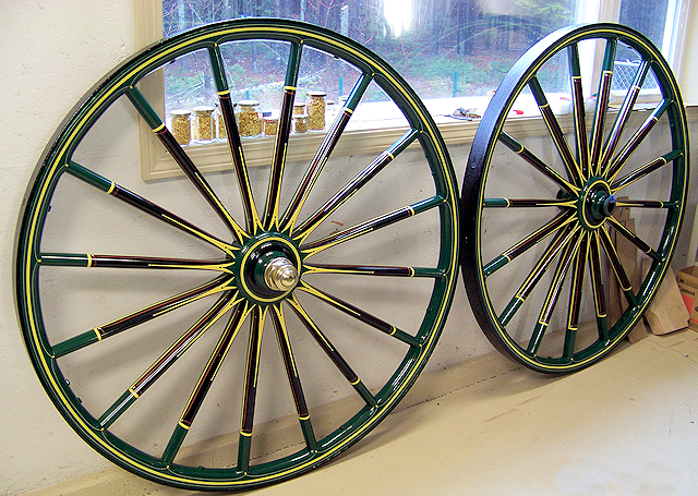 Restored wheel decoration from 1860