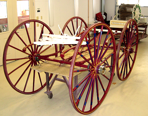 Fire Gold shop with 1850s Eagle Hose carriage restoration.