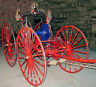1880s Silsby hose carriage restored by Firefly Restoration